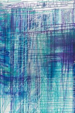 "Pathways, acrylic on canvas, 60"" x 40"" $2200"