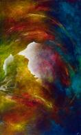 """Ancestral Cry, acrylic on canvas, 60"""" x 36"""", $1850"""
