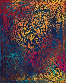 """Smolder, acrylic on canvas, 10"""" x 8"""" $400"""