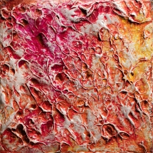 """Precious Metal Series: Copper Commitments, acrylic on canvas, 5"""" x 5"""", $275"""