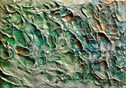 "Precious Metal Series: Golden Longings, acrylic on canvas, 5"" x 7"" $275"