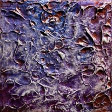 "Precious Metal Series: Penny Promises, acrylic on canvas, 6"" x 6"", $275"