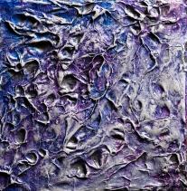 "Precious Metal Series: Silver Hopes, acrylic on canvas, 6"" x 6"", $275"