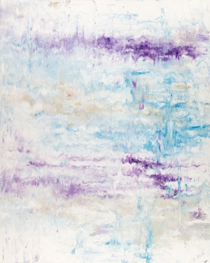 "Solitude Series: Bird Song 1, acrylic on canvas, 60"" x 48"", $2700"