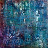 "Tapestry I, acrylic on canvas, 30"" x 30"", $1200"
