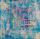 """Tapestry Series: Remnant III, 12"""" x 12"""", acrylic on canvas, $600"""