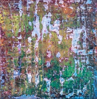 """Tapestry Series: Remnant IX, 6"""" x 6"""", acrylic on canvas, $475"""