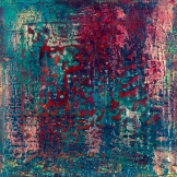 """Tapestry Series: Remnant V, 10"""" x 10"""", acrylic on canvas, $550"""