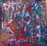 """Tapestry Series: Remnant VII, 6"""" x 6"""" , acrylic on canvas, $475"""