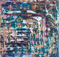 """Tapestry Series: Remnant XI, 5"""" x 5"""", acrylic on canvas $425"""