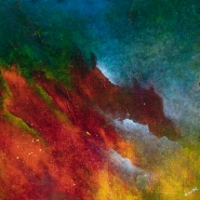 "Dreams III 18"" x 18"" acrylic on canvas INV # 1434"
